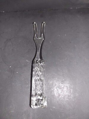Glass Salad Server - VINTAGE LARGE SOLID GLASS SALAD SERVER FORK