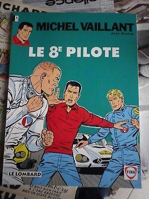 michel vaillant le 8 pilote bd pub fina broché 1993 très bon état graton