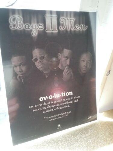 Boyz II Men Huge 8 X 10 1997 Sticker Evolution Album CD (RARE/HTF)