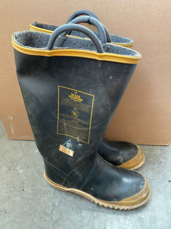 Vintage Black Diamond Firefighter Boots Size Men's 10M Medium Steel Toe