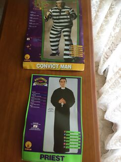 2 x Adult Fancy Dress Outfits, Convict & Priest