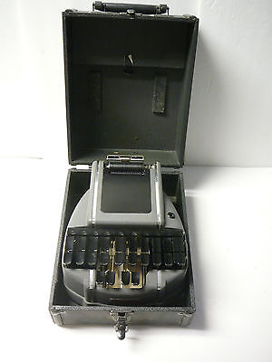 Vintage Stenograph Reporter Model Machine Chicago Stenographic Machines Inc