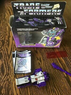 Transformers Vintage 1985 Triple Changer Astrotrain Complete w/ Box & gun