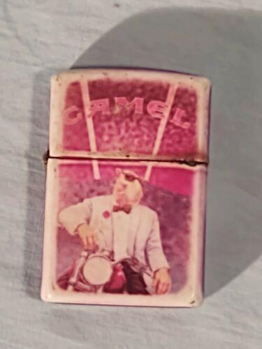 Camel Joe Zippo Lighter in White Tux on Harley