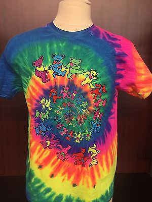 - GRATEFUL DEAD SPIRAL BEARS NEON RAINBOW TIE DYE  ADULT S-5XL & KIDS S6-8-L14-16