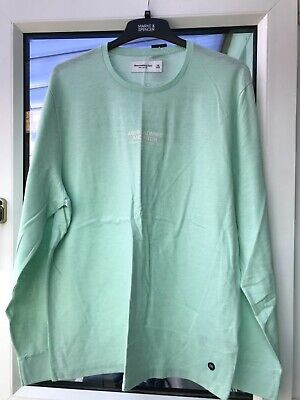 Abercrombie and Fitch Mint Green Long Sleeved Logo Tee XXL BNWT