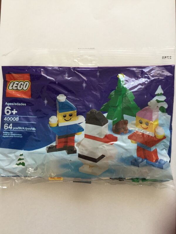 Lego+40008+Poly+Bag+Packet+Brand+New+In+Bag+Xmas+Snowman+With+Tree