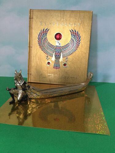 Anubis Egyptian incense  burner. PLUS Egyptology book.