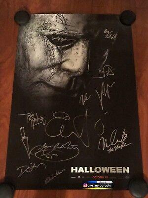 2018 HALLOWEEN CAST SIGNED POSTER JAMIE LEE CURTIS SIGNED JOHN CARPENTER SIGNED](Halloween Cast Jamie)