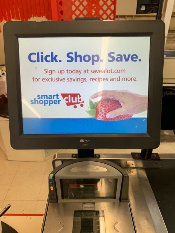 NCR Supermarket POS system (Touch Screen) with payment terminals
