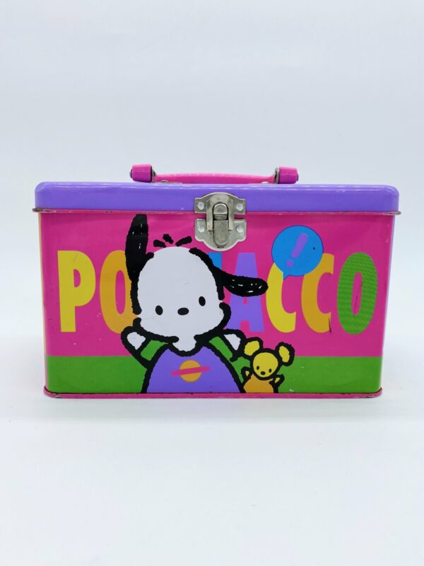 Vintage 1993 Sanrio Pochacco Metal Tin Storage Box