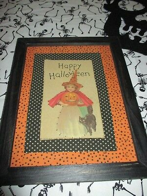 Vintage Halloween Pictures (Designs by Kathy Vintage Retro Halloween Hand Stitched Little Witch)