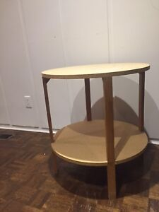 Side Table-Holds a Table Skirt Beautifully