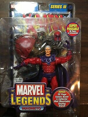 MARVEL LEGENDS SERIES 3 MAGNETO ACTION FIGURE TOY BIZ 2002