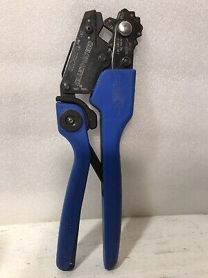 Thomas Betts Tb Tbm25s Manual Ratcheting Comfort Crimper Color-keyed Matched