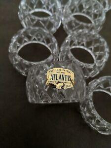 Vintage Atlantis crystal napkin rings