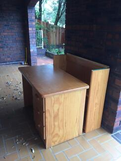 Student Desk with Hutch - Solid Pine