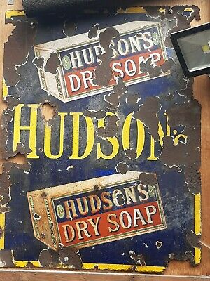 Antique vintage enamel sign barn find