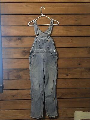 Vintage Overalls & Jumpsuits Carhartt Overalls - 14806 Womens - Distressed Wash Denim - Short -  Extra Small $59.99 AT vintagedancer.com