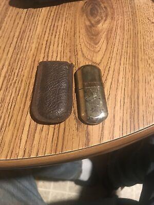 """Working Vintage cigarette lighter MARLBORO Brass No. 6 Trench 2 3/4"""" W Case"""