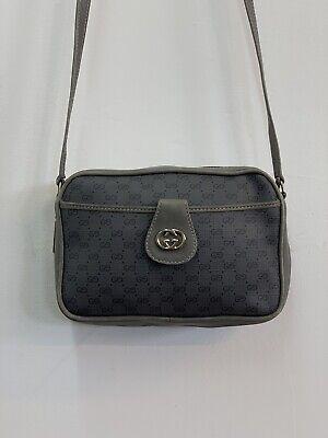 Vintage GUCCI GG Logo Monogram Rare Leather Crossbody Bag Italy Crossbody Purse