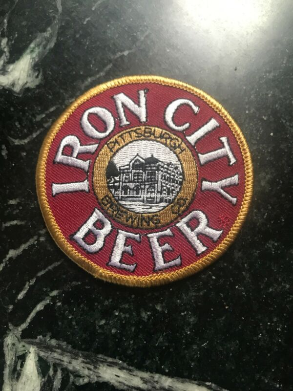 "Iron City Beer Patch Pittsburgh PA Brewing Co 80s 3"" Rare HTF Logo Brewery Vtg"