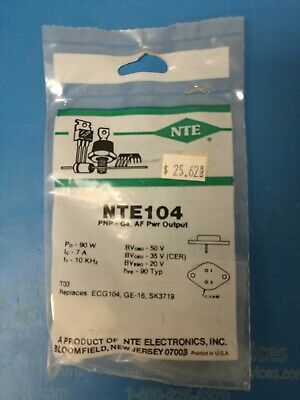 Nte104 Ecg104 Ge-16 Sk3719 Germanium Pnp Transistor Af Power Output New