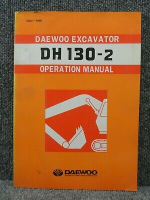 Oem Factory Daewoo Dh 130-2 Excavator Operation Manual 2022-7056