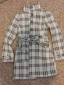 Women's belted fall coat , size 8