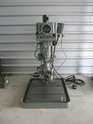 Clausing 16vc1 Variable Speed 115v 34hp Drill Press 1 Procunier Lead Screw Tap