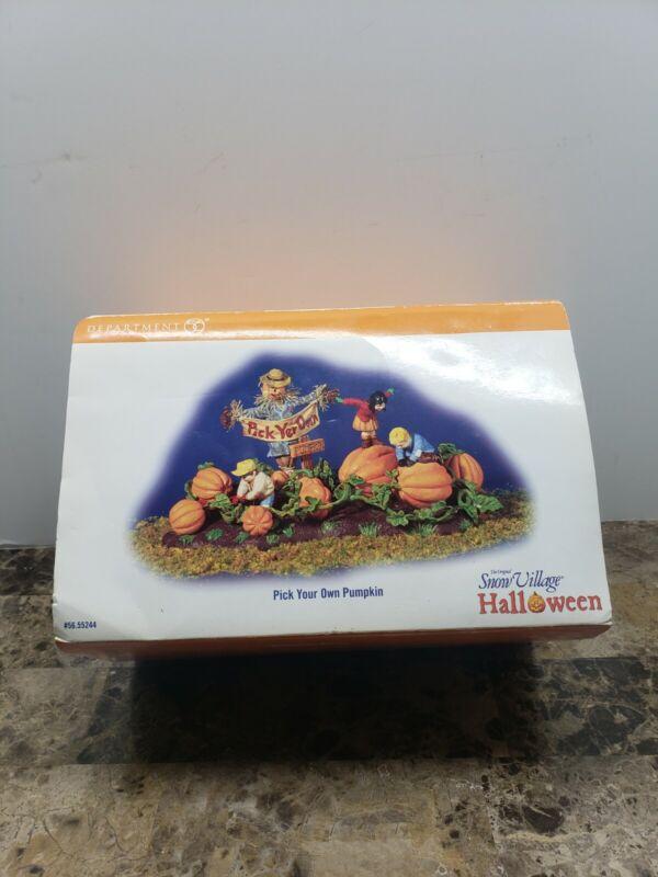 Dept 56 Pick Your Own Pumpkin Snow Village Halloween #56.55244 with Box