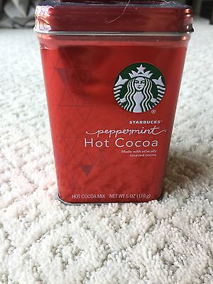 Starbucks Classic Peppermint Hot Cocoa Mix Red Tin 6 oz NEW