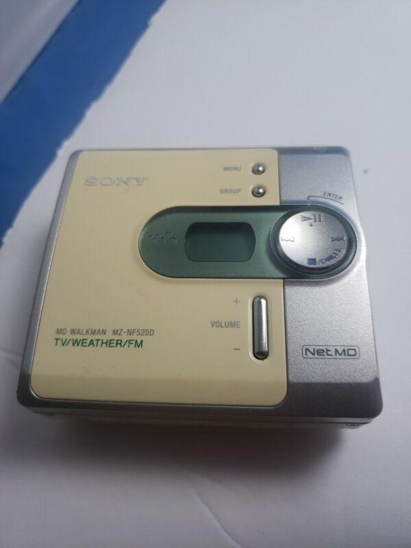Sony Net Md Walkman MZ-NF520D Weather Works Great TESTED WORKING