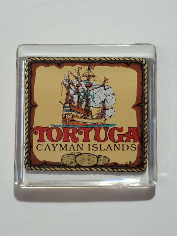 🌺Tortuga Cayman Islands Resin Magnet - preowned - good condition- ships fast 👍