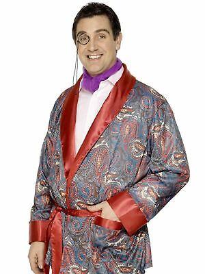 Hugh Hefner Costume Robe (Adult Smoking Jacket / Hugh Hefner Playboy Robe Mens Fancy Dress Costume)