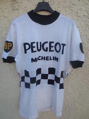 Maillot cycliste PEUGEOT BP MICHELIN 1965 Tour de France jersey trikot vintage