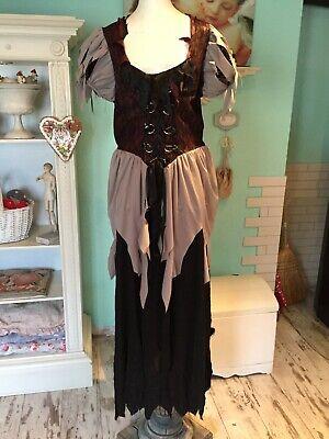 süßes Hexenkleid Kleid Burgfräulein Gr.L-Xl bequem Fashing (Bequem Kostüm)