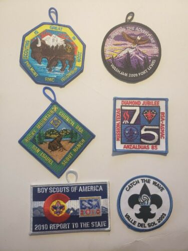 BSA Boy Scouts of America BSA Set of 6 patches Lot # 2