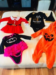 Seasonal Outfits, Girl's Size 6-9 Month's (Pumpkin one sold)