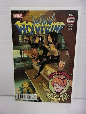 All-New Wolverine #7 (2016 Marvel Comic) Squirrel Girl, Early Honey Badger App