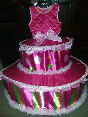 HALLOWEEN COSTUME *CAKE* so cute! Pink birthday NEW GIRLS 5/6 tiered - Cute Halloween Birthday Cakes