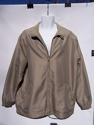 Greg Norman Men's Beige Zip Front Windbreaker Golf Jacket Size Medium Front Zip Windbreaker Jacke