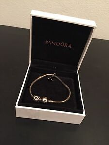 PANDORA bracelet with 2 charms Arncliffe Rockdale Area Preview