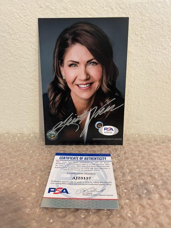 Kristi Noem Signed 4x6 Photo PSA/DNA Coa 2024 Governor
