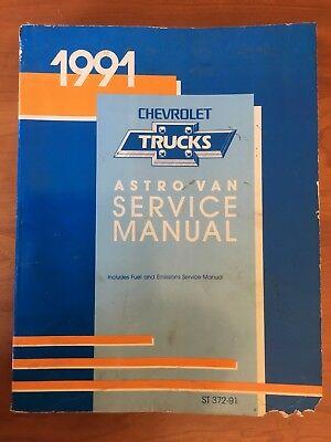 A 1991 Chevy Trucks Astro Van Service Car Manual  For Auto Mechanic Repair