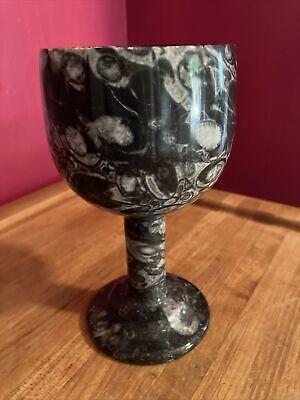 "6.5""X3.5"" Stone/Granite 10 Oz Goblet EUC"