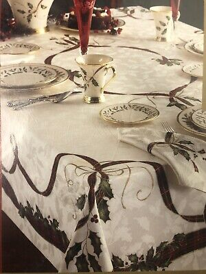 "Lenox Holiday Nouveau Christmas Table Ribbon Table Linen 60""x 104"""