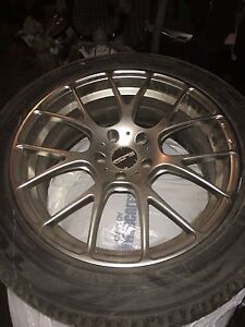 Set of four 2013 camaro aftermarket rims on winter tires! Obo