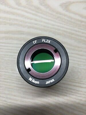 Nikon Microscope Cf Pl2x Photo Eyepiece Relay Lens