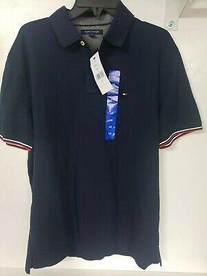 NWT! Tommy Hilfiger Men's Polo Shirt Solid Interlock Large Navy Blazer